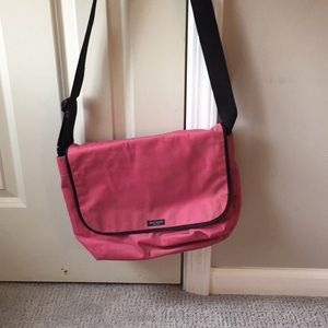 Kate Spade nylon pink messenger bag